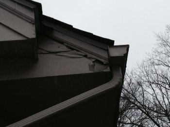 Damaged Gutters due to cold weather